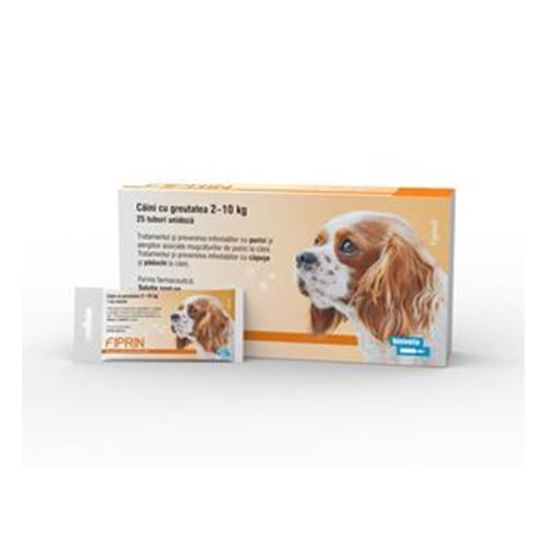 Solutie antiparazitara, Fiprin Spot Dog S, 25 x 0,67 ml imagine