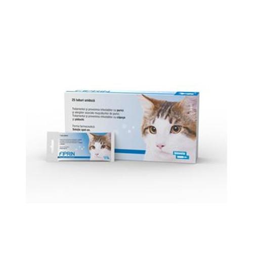 Solutie antiparazitara, Fiprin Spot Cat, 25 x 0,5 ml imagine