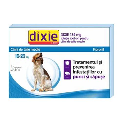 Solutie antiparazitara, Dixie Spot On Dog M, 1,34 ml x 3 buc imagine