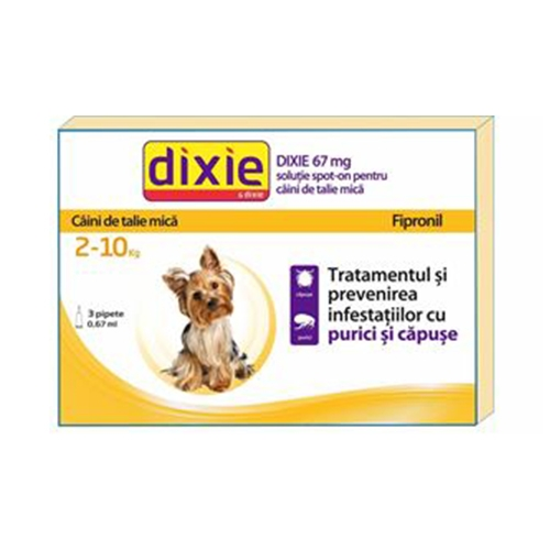 Solutie antiparazitara, Dixie Spot On Dog S, 0,67 ml x 30 buc imagine