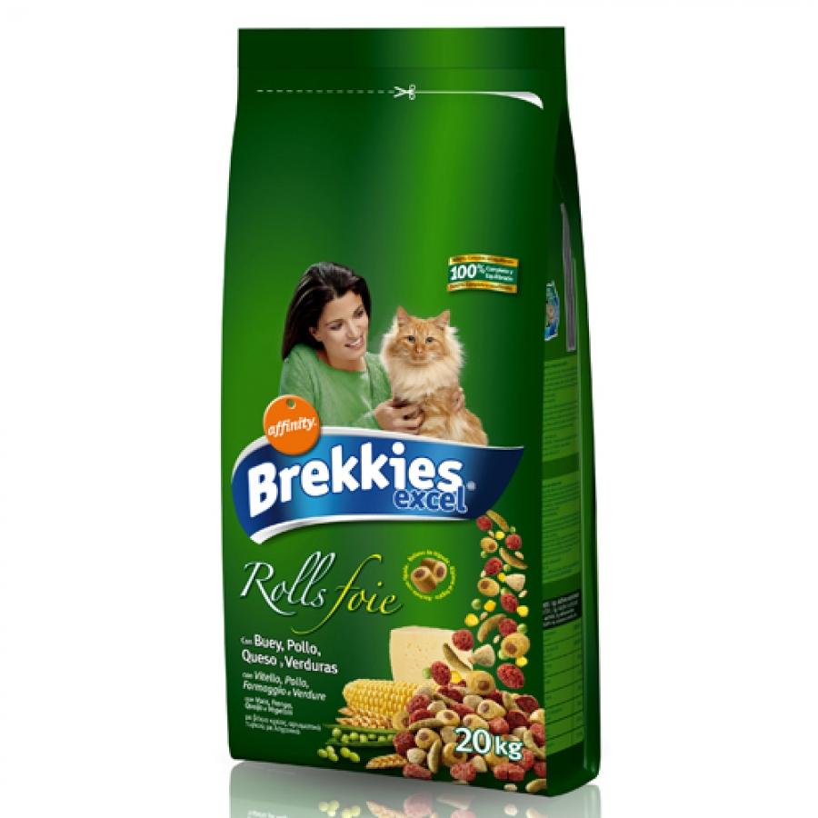 Brekkies Cat Excel Rolls, 20 Kg imagine