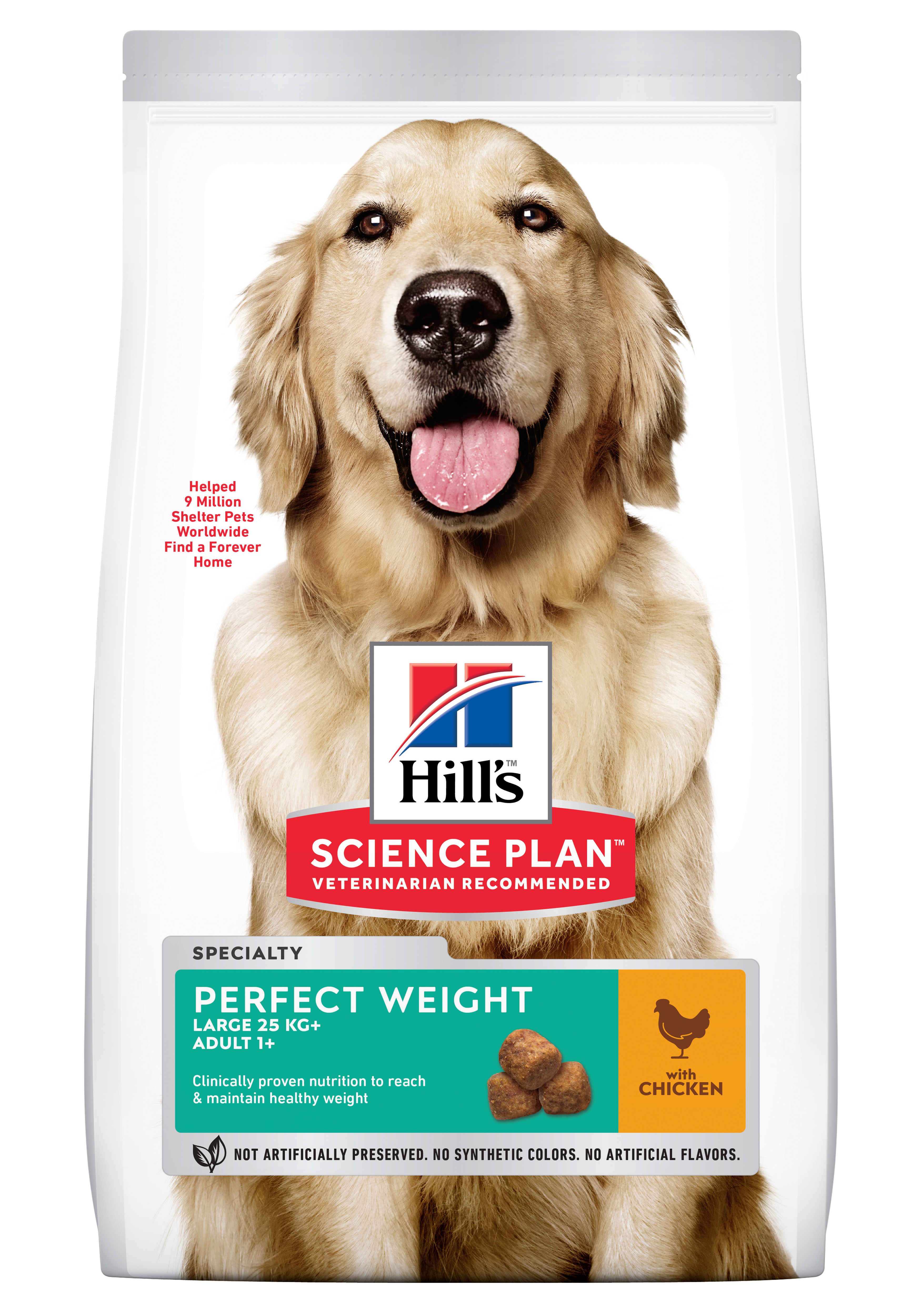 Hill's SP Adult Perfect Weight Large Breed hrană pentru câini cu pui, 12 kg imagine
