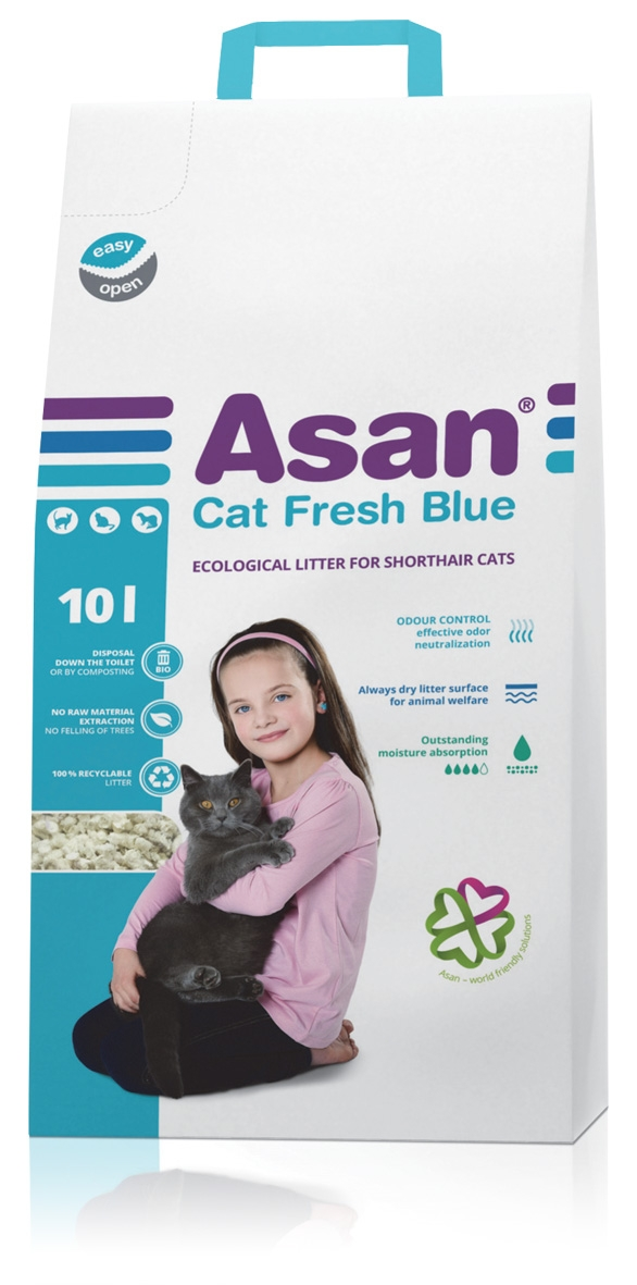 NISIP ASAN CAT FRESH BLUE 10 L imagine