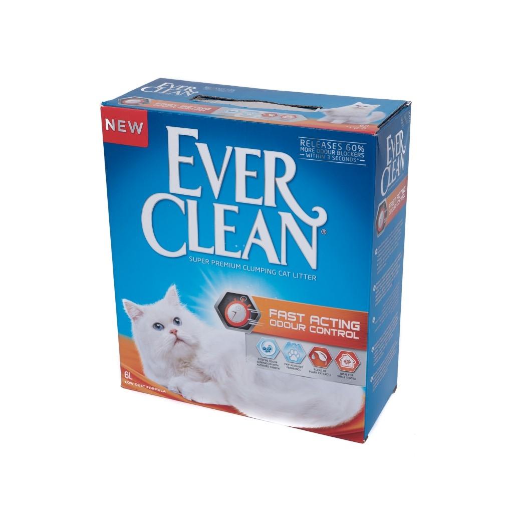 Nisip Igienic Ever Clean Fast Acting, 6 l imagine