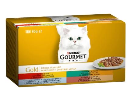 Gourmet Gold Double Pleasure in Sos Multipack, 4 x 85 g imagine