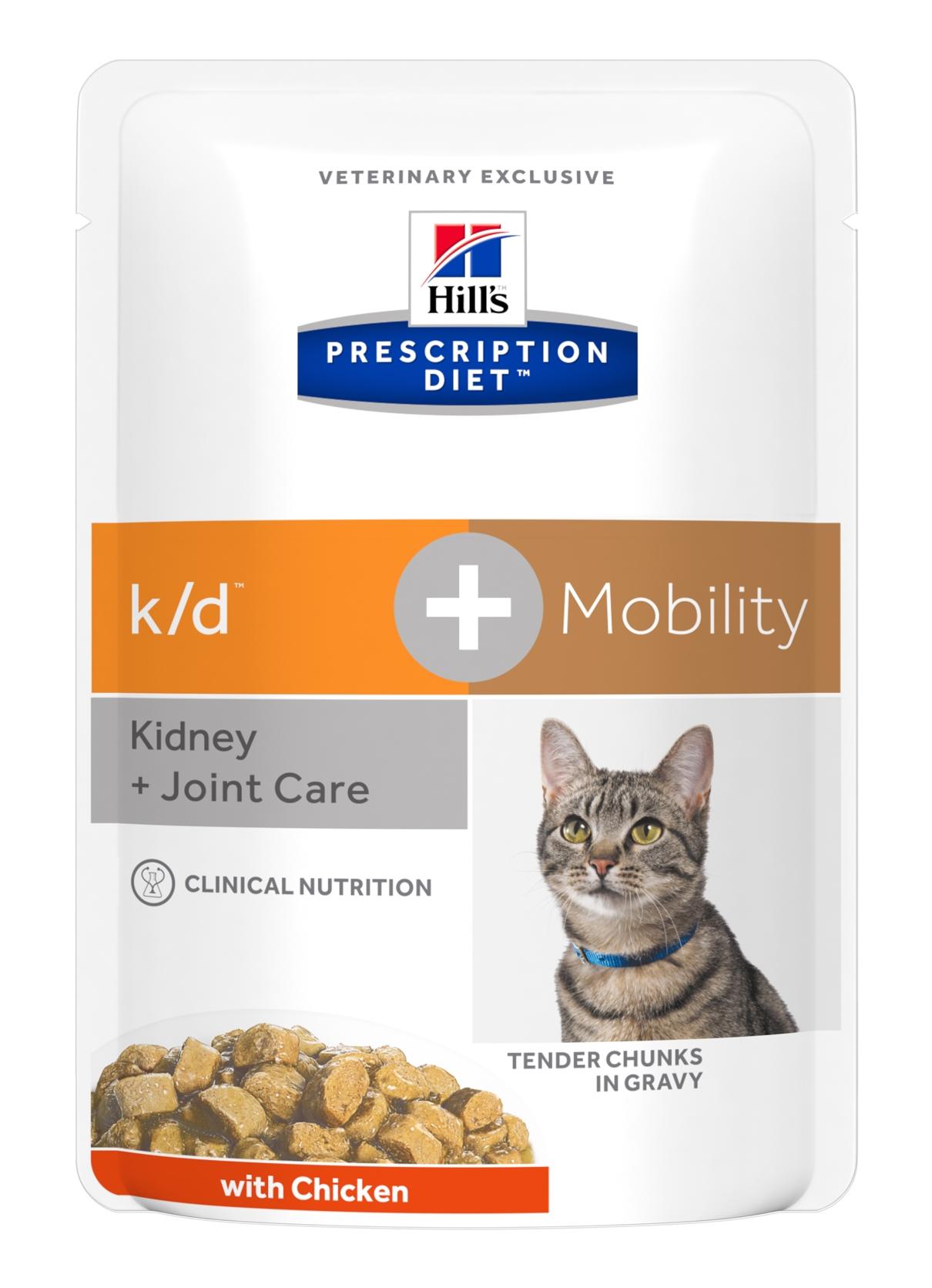 Hill's PD k/d + Mobility Kidney Care + Joint Care hrana pentru pisici, 85 g (plic) imagine