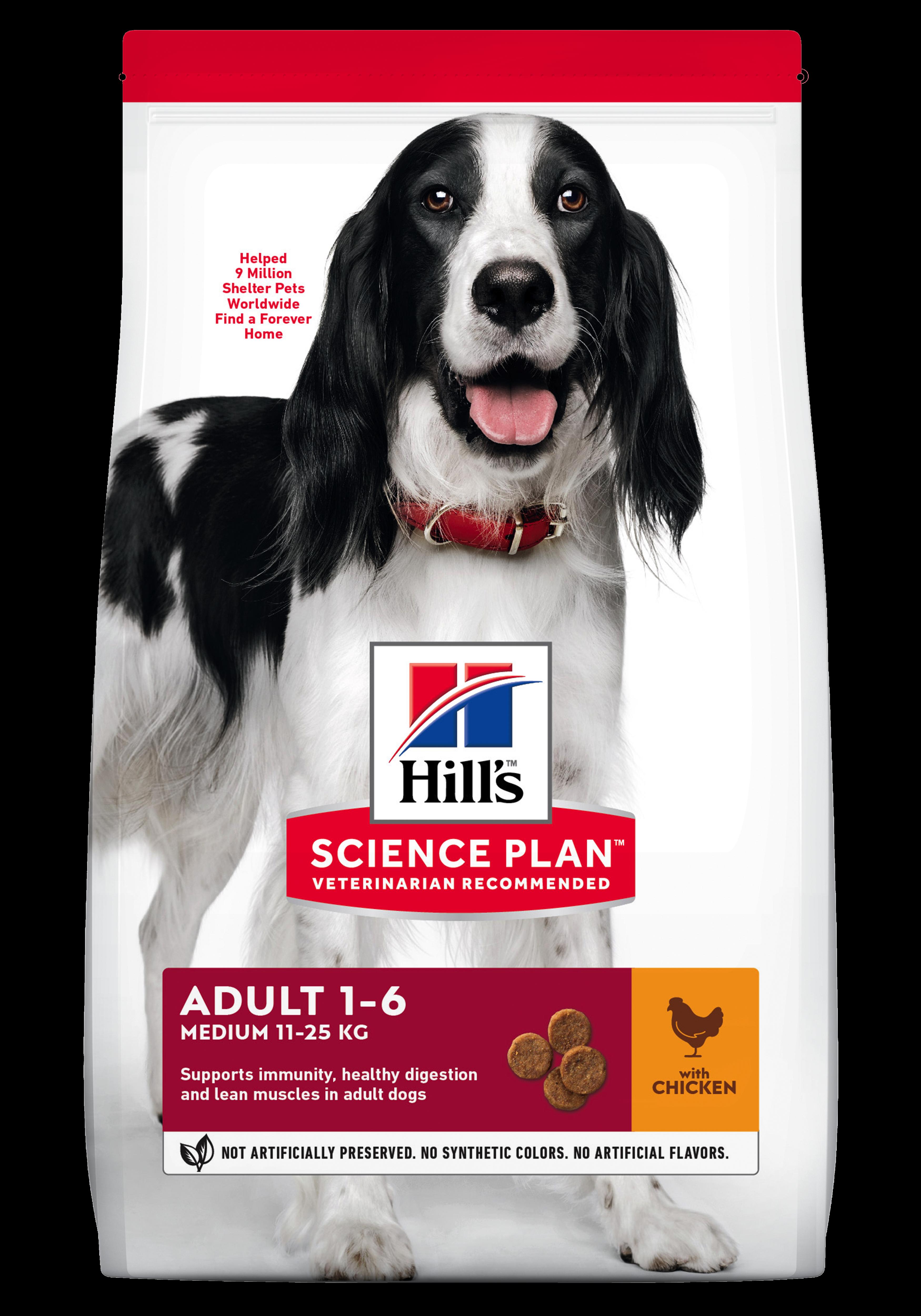 Hill's SP Adult Medium Breed hrana pentru caini cu pui imagine