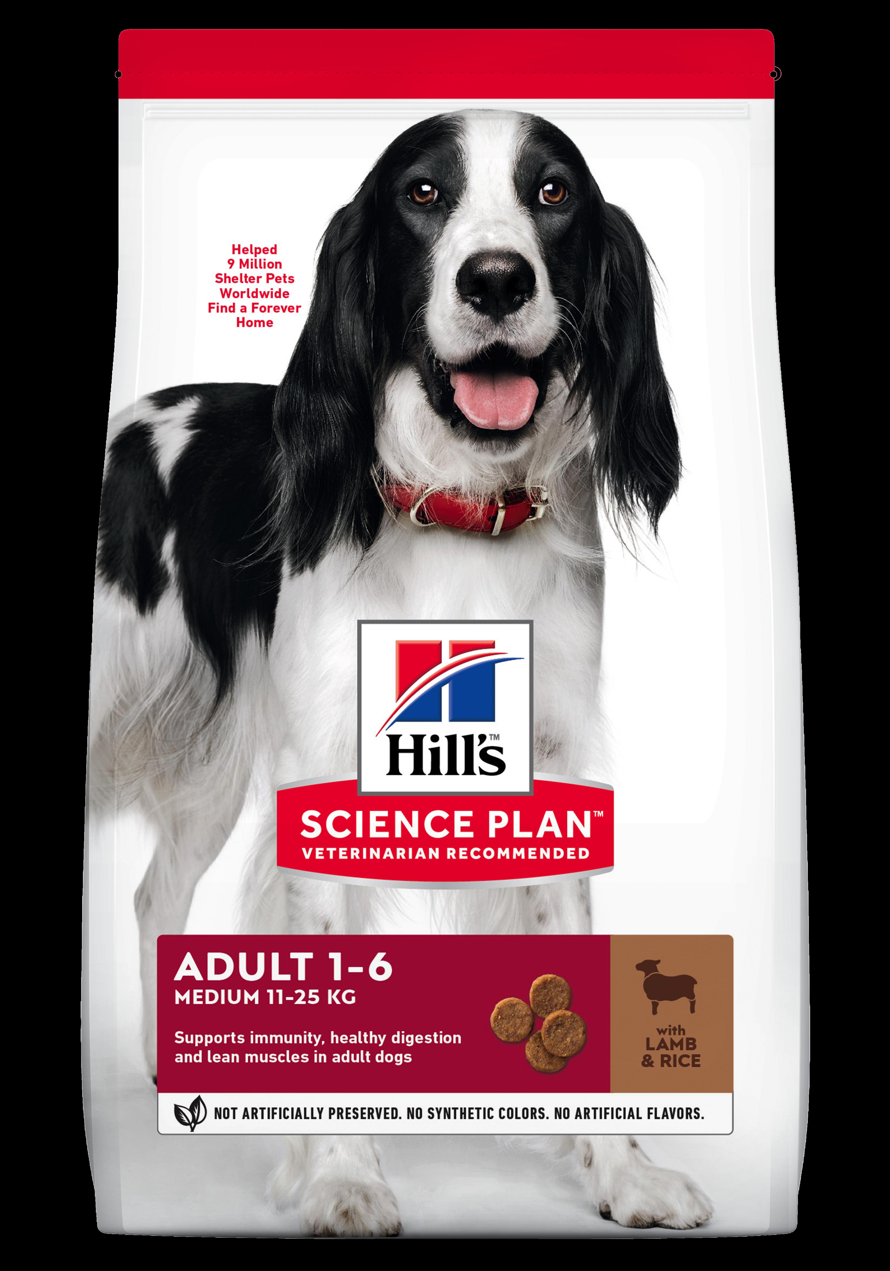 Hill's SP Adult Medium Breed hrana pentru caini cu miel si orez imagine