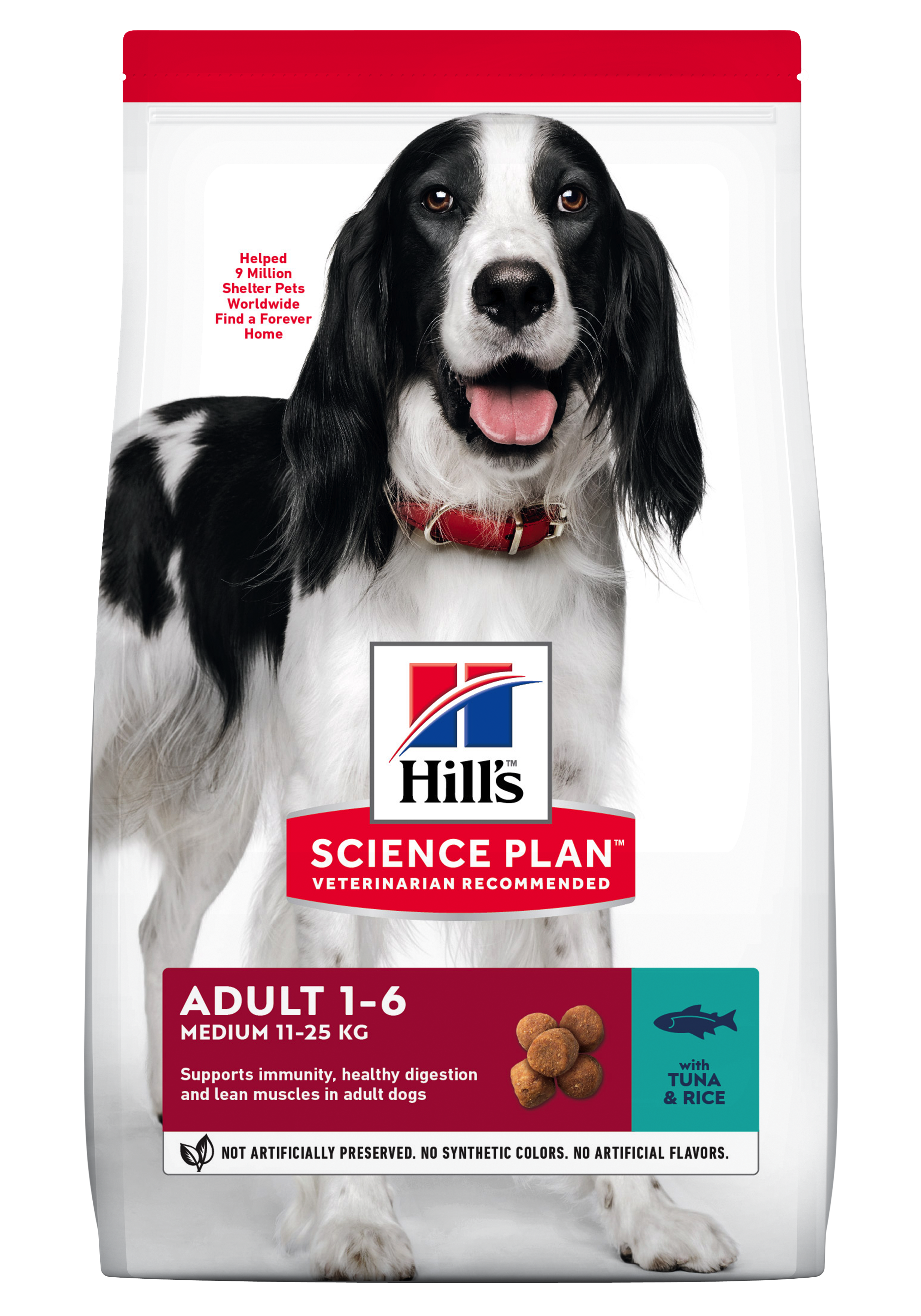 Hill's SP Adult Medium Breed hrana pentru caini cu ton si orez imagine