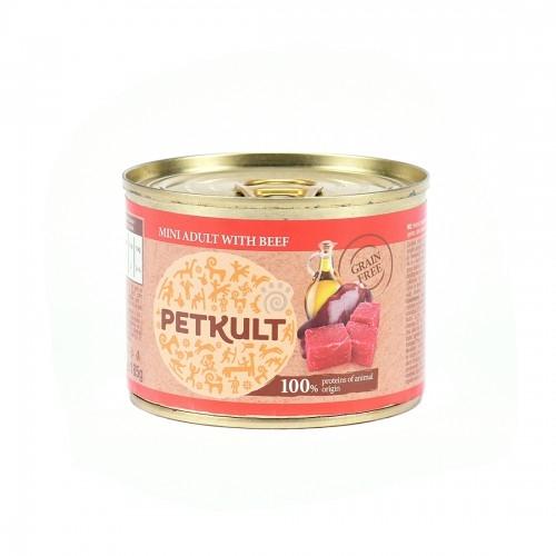 Hrana umeda caini, Petkult Mini Adult cu vita, 185 g imagine