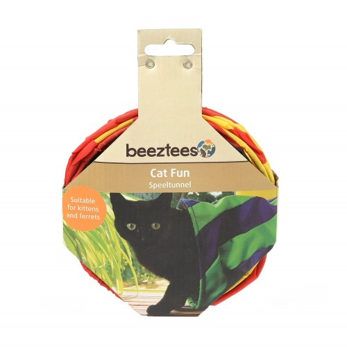 Tunel de joaca pentru pisici, Beeztees, 35 cm imagine