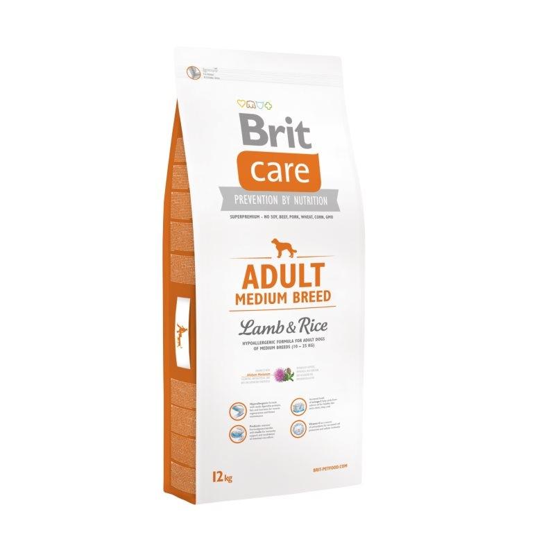 Brit Care Adult Medium Breed Lamb & Rice, 12 kg imagine