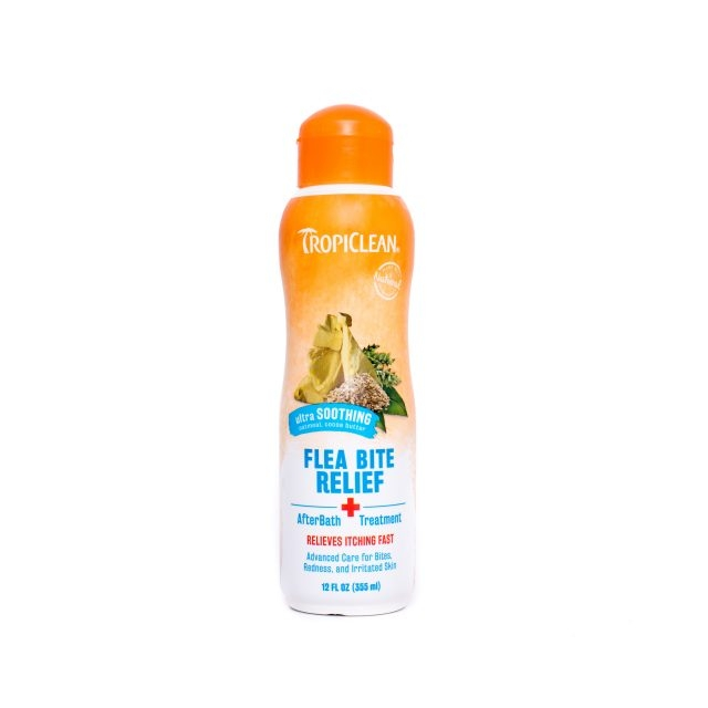 Solutie naturala dupa baie, Tropiclean Flea Bite Relief, 355ml imagine
