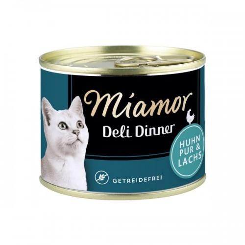 Hrana umeda pisici, Miamor Grain Free cu somon si pui, 175 g imagine