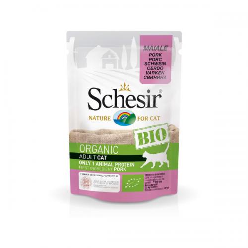 Schesir Bio For Cat, Porc, 85 g imagine
