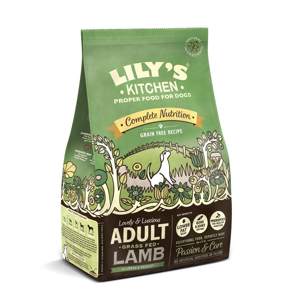 Mancare uscata caini, Lily's Kitchen, Complete Nutrition Adult, Lamb, 1 kg imagine