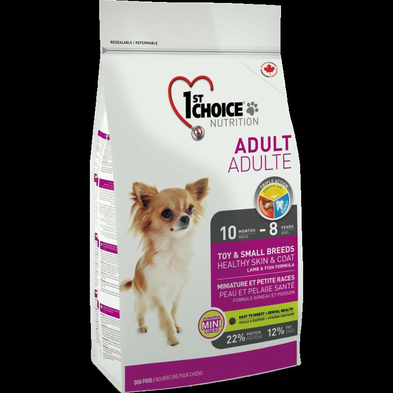 1St Choice Dog Adult Toy & Small Breeds Skin & Coat, 7 Kg imagine