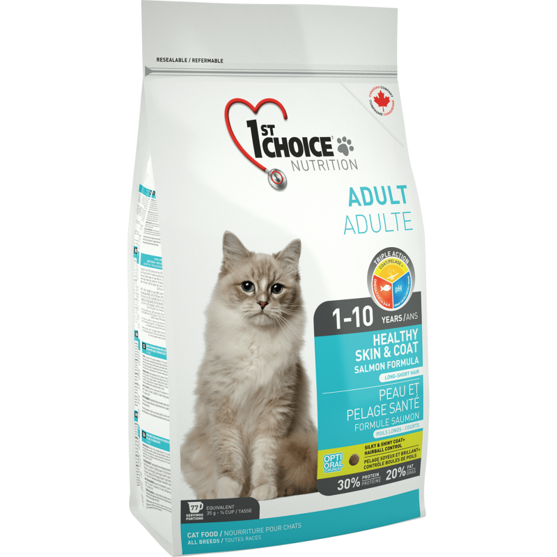 1St Choice Cat Adult Skin & Coat, 5.44 Kg imagine