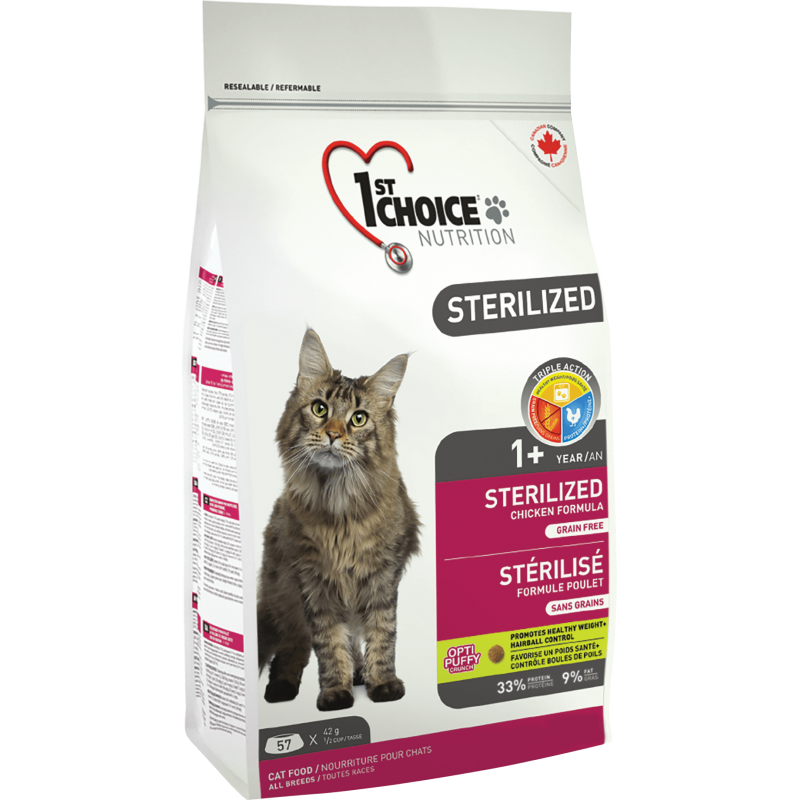 1St Choice Cat Adult Sterilized, 2.4 Kg imagine