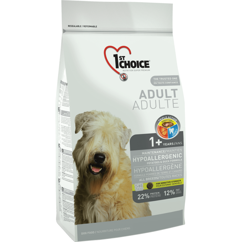 1St Choice Dog Adult All Breeds Hypoallergenic, 350 g imagine