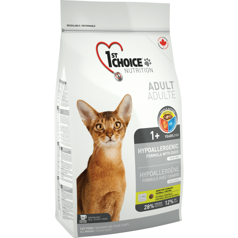 1St Choice Cat Adult Hypoallergenic, 2.72 Kg imagine
