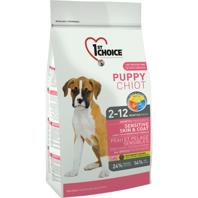 1St Choice Dog Puppy All Breeds Sensitive Skin & Coat, 2.72 Kg imagine