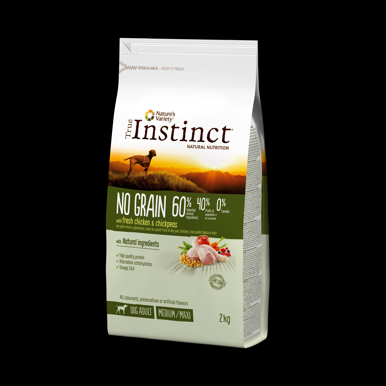 True Instinct Dog No Grain Pui & Naut, 2kg imagine