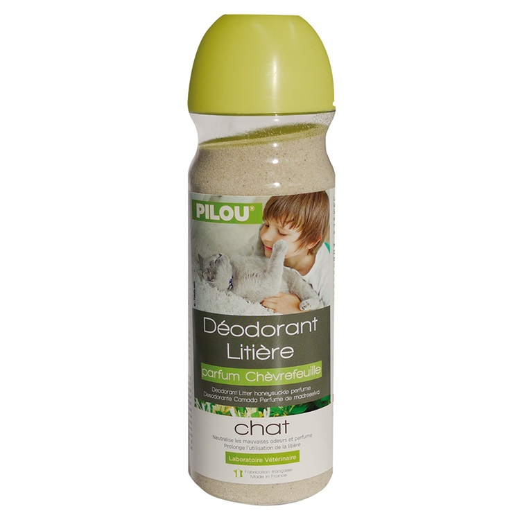 Deodorant litiera, Pilou, Caprifoi, 750g imagine