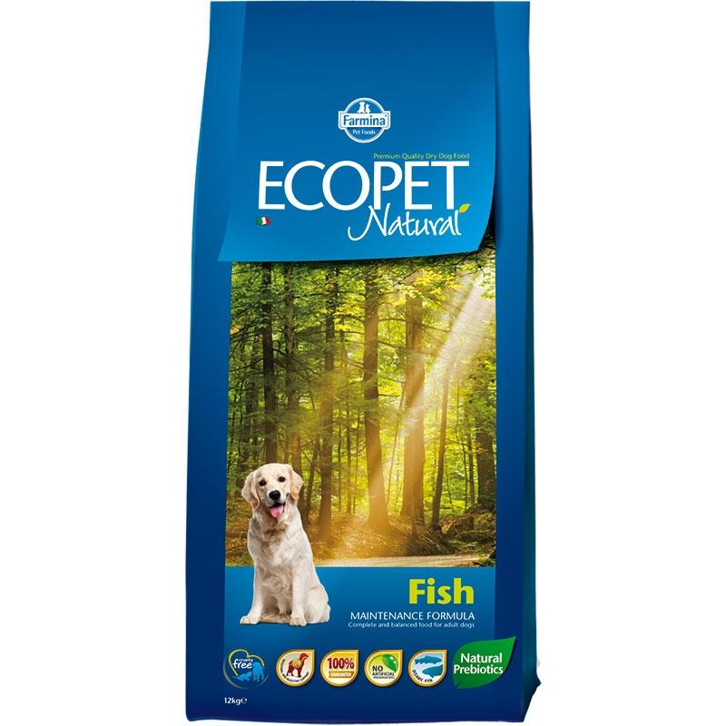 Ecopet Natural Dog Adult Mini Fish 12 Kg imagine