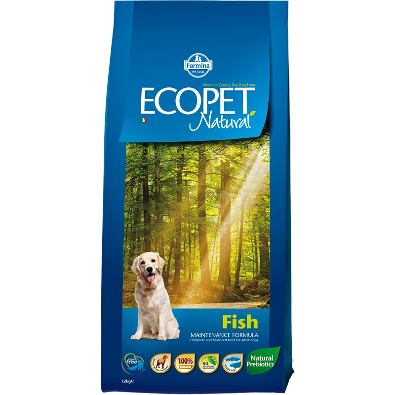Ecopet Natural Dog Adult Mini Fish 2.5 Kg