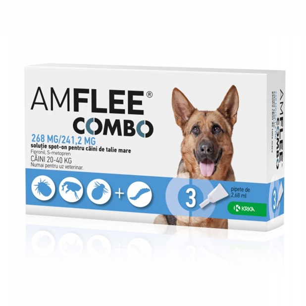 AMFLEE COMBO DOG 268 mg, L (20-40 kg) x 3 pipete imagine