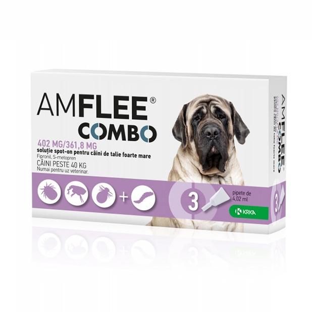 AMFLEE COMBO DOG 402 mg, XL (40-60 kg) x 3 pipete imagine