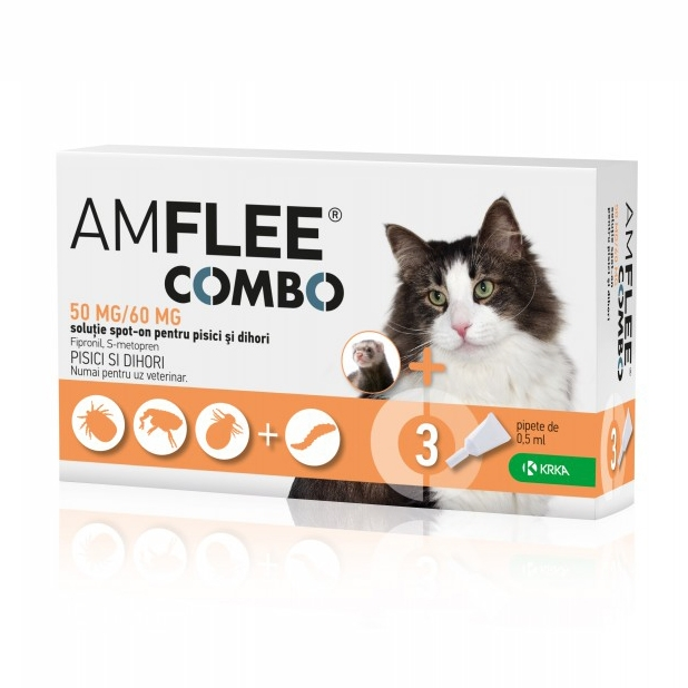 AMFLEE COMBO CAT, 50 mg x 3 pipete imagine