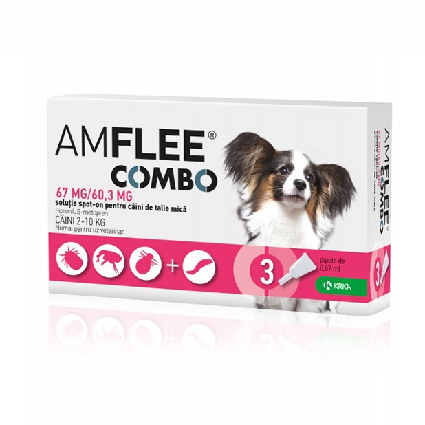 AMFLEE COMBO DOG 67 mg, S (2-10 kg) x 3 pipete imagine