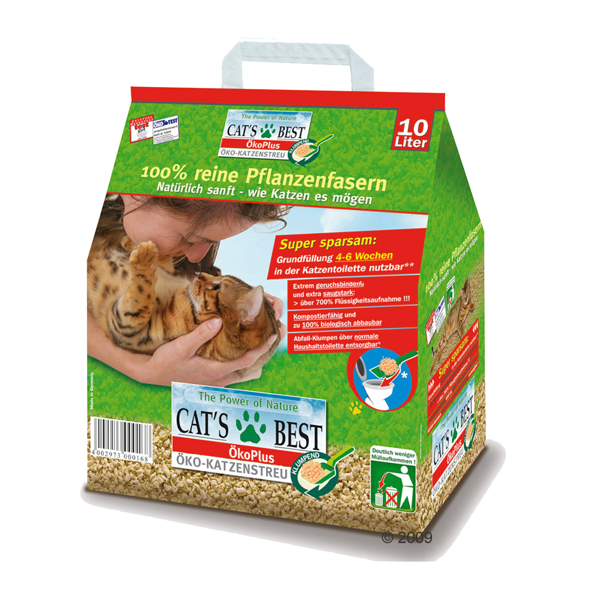 Cat's Best Oko Plus 5L- Nisip 100% natural imagine