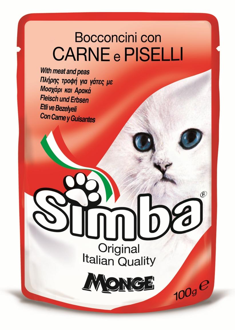 Simba Cat Plic Carne/Mazare 100 G imagine