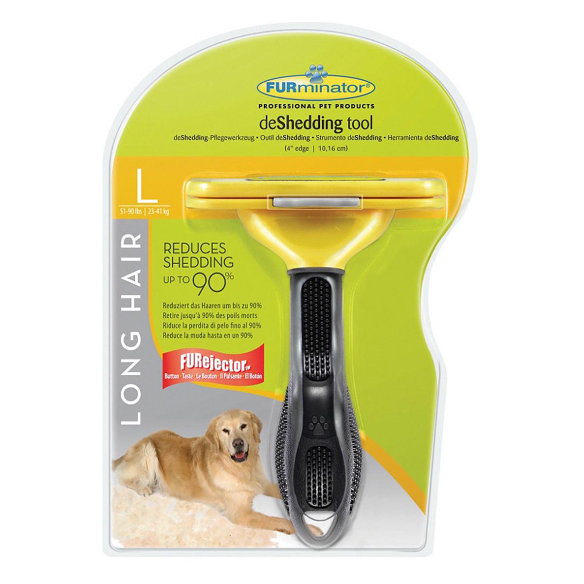Perie furminator dog long hair l 224 99 ron petmart petshop for Clou arredi farmacie
