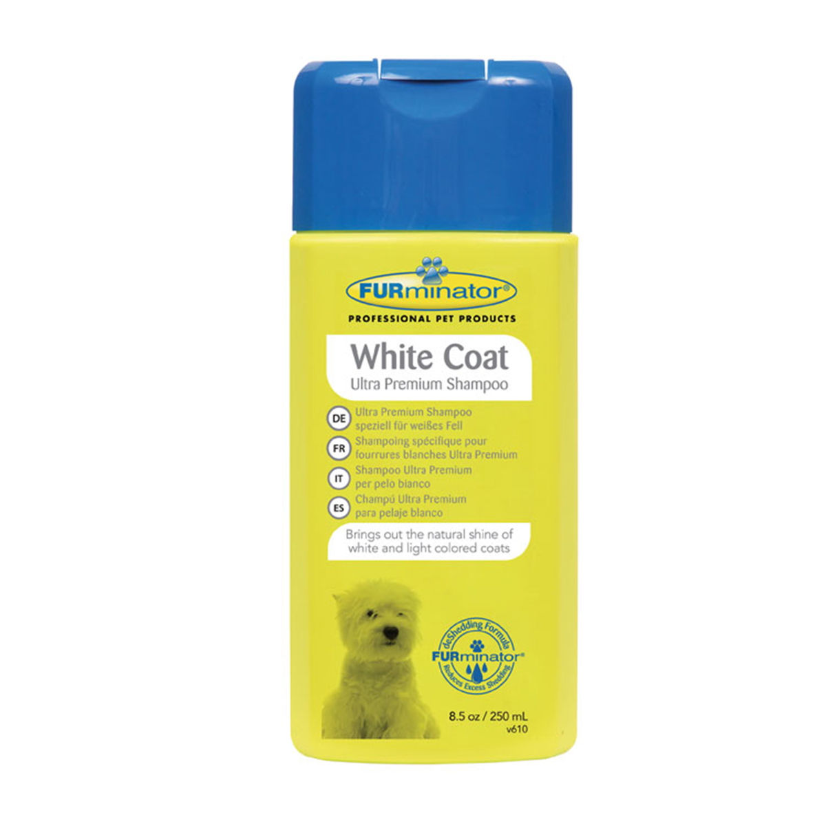 Furminator Sampon White Coat, 250 ml imagine