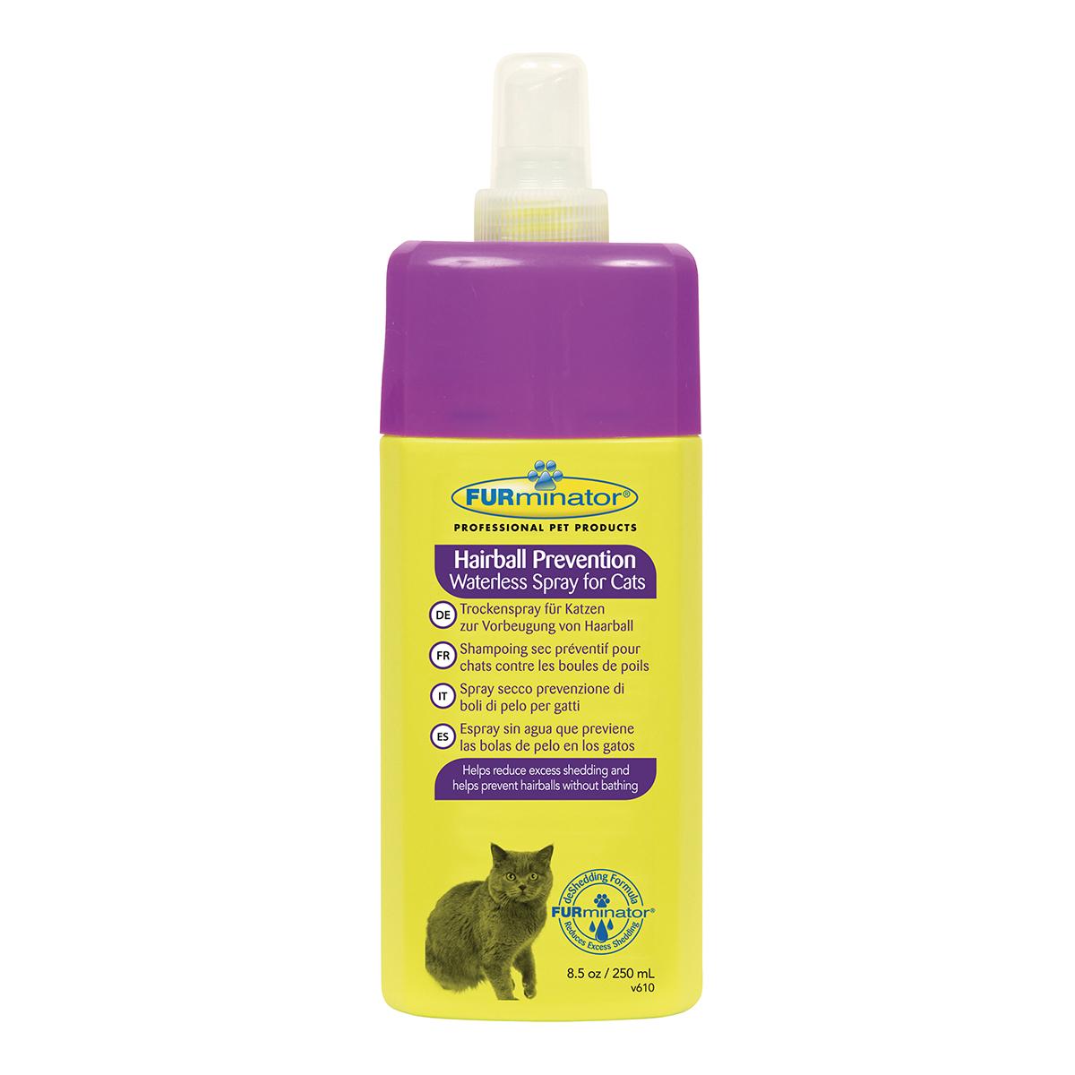 Furminator Spray Pisica Waterless Hairball, 250 ml imagine