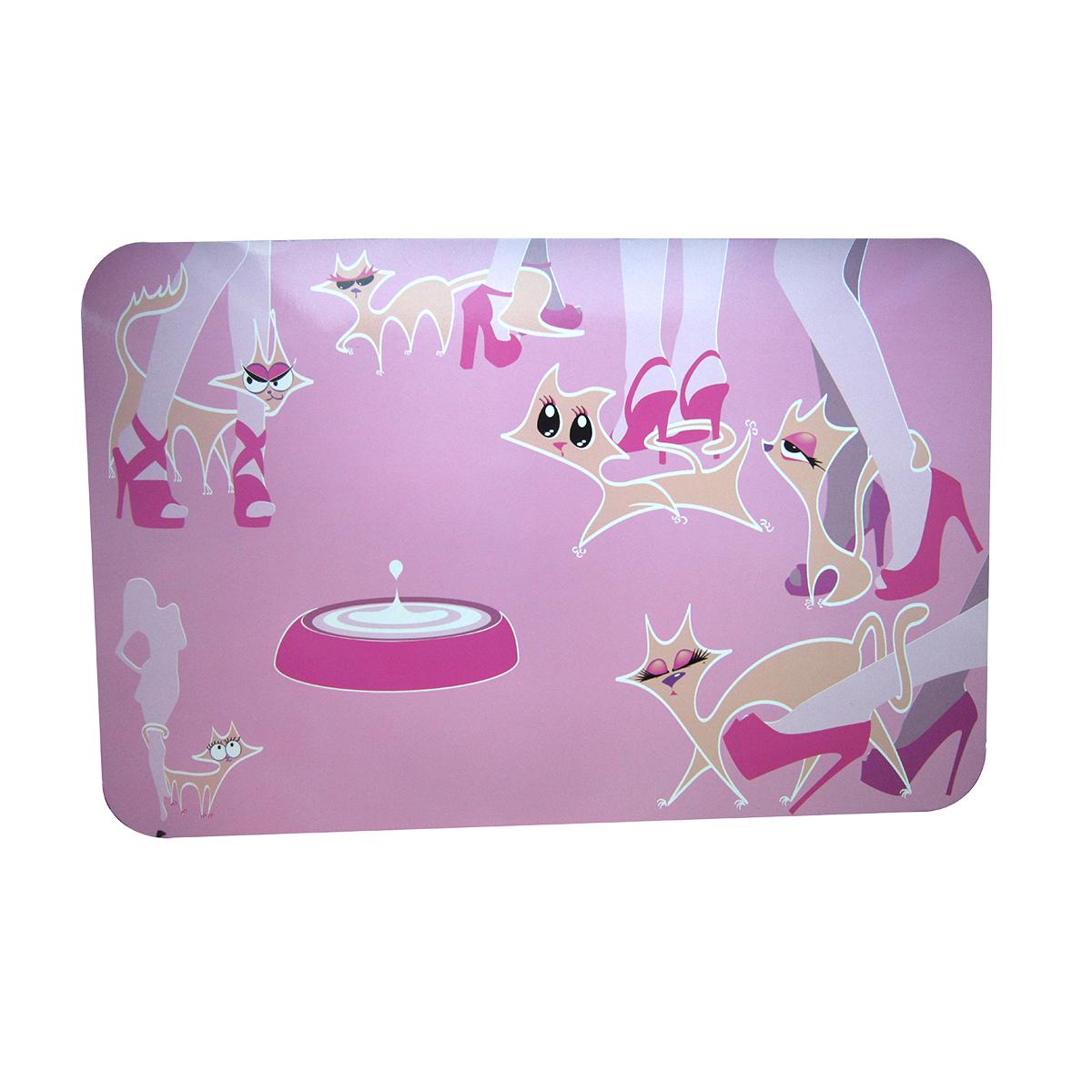 Pad Castron Pisici Glamour Pink 43x28 Cm imagine
