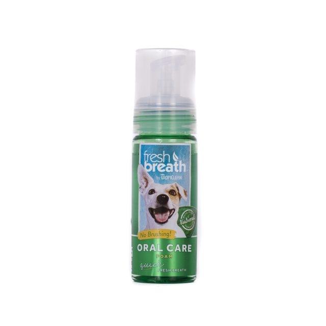Tropiclean Fresh Breath Oral Care Foam, 133 ml imagine