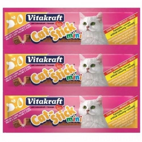 Baton Pisica Mini Vitakraft Pasare/Ficat 3 Buc imagine