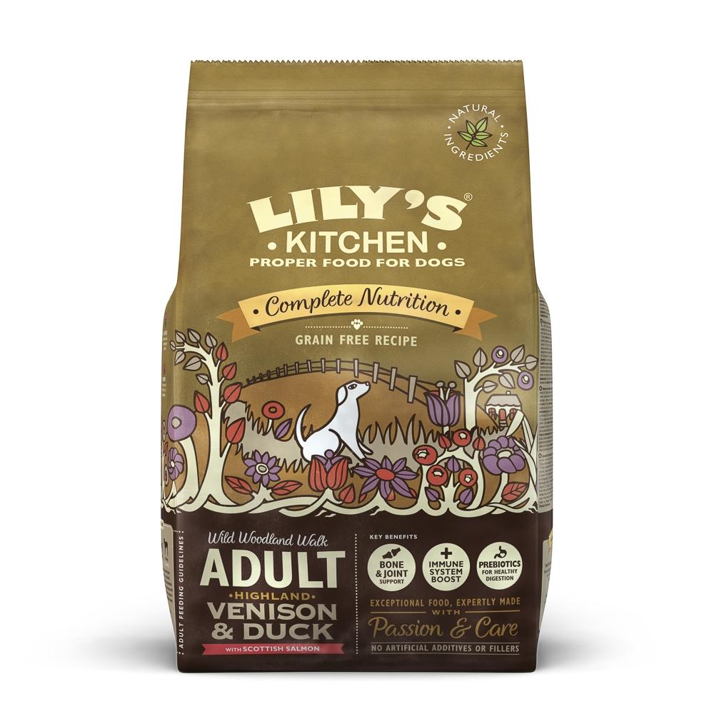 Mancare uscata caini, Lily's Kitchen, Complete Nutrition Adult, Highland Venison and Duck, 7 kg imagine