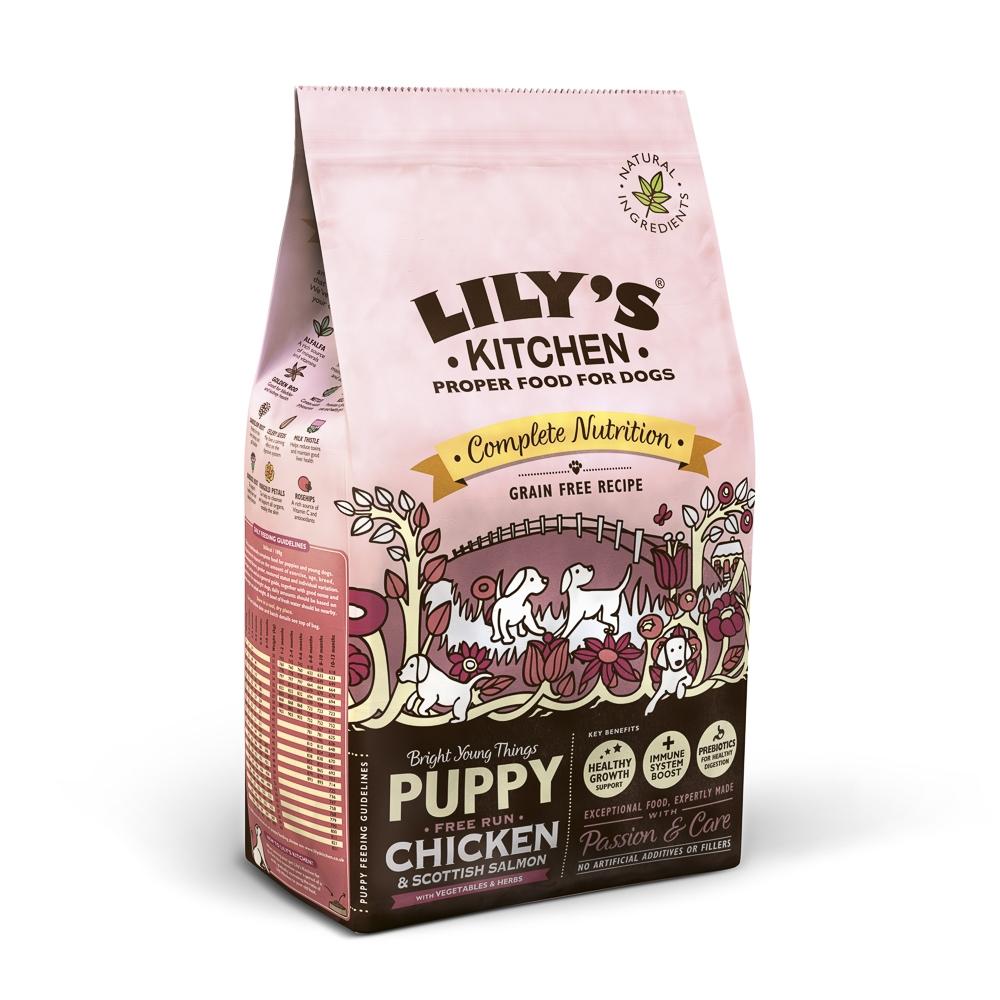 Mancare uscata caini, Lily's Kitchen, Complete Nutrition Puppy, Chicken and Scottish Salmon, 2.5 kg imagine