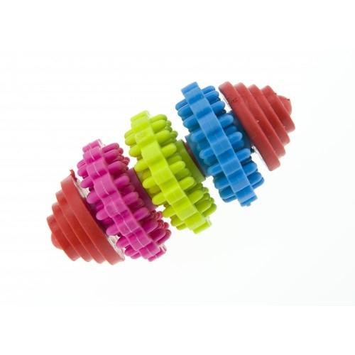 Jucarie caini gantera cu inele, Enjoy, 7.5 cm imagine