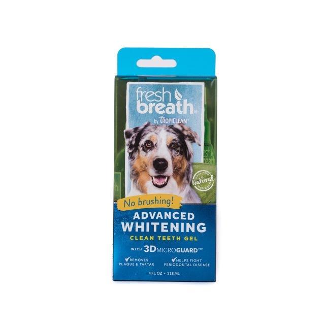Tropiclean Fresh Breath Advanced Whitening Gel, 118 ml imagine