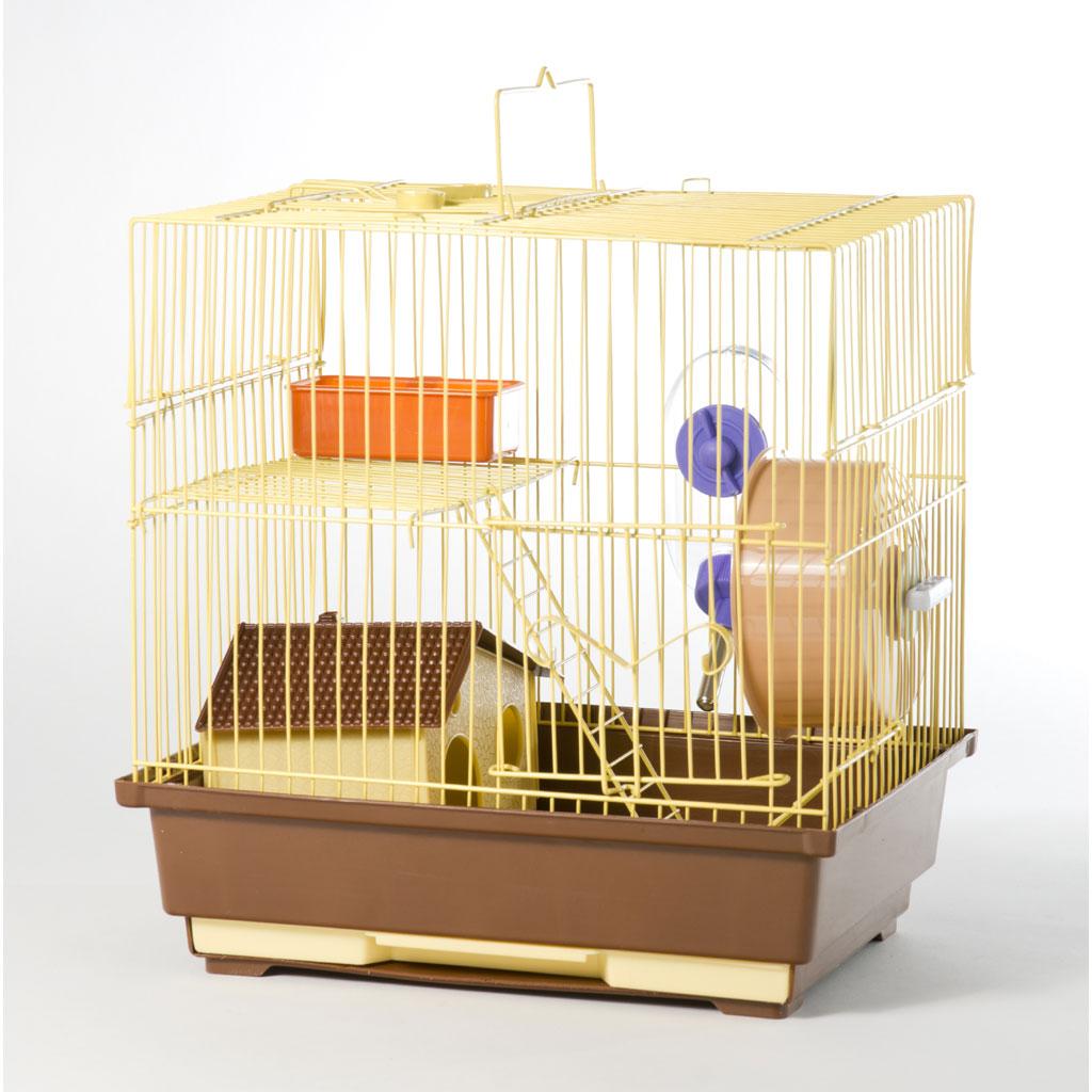 Cusca Hamsteri, 1 etaj Multicolor, 30 x 23 x 31 cm imagine