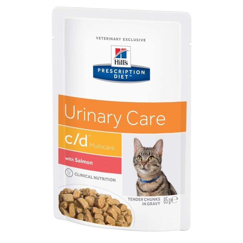 Hill's PD c/d Urinary Care hrana pentru pisici cu somon 85 g (plic) imagine