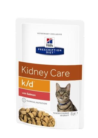 Hill's PD Feline K/D Salmon, 85 g imagine