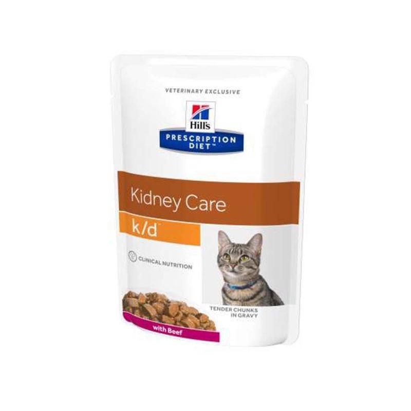 Hill's Pd K/d Kidney Care Hrana Pentru Pisici Cu Vita 85 G (plic)